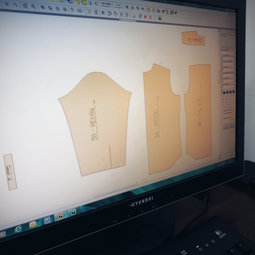 the new electronic CAD system used for production of our shirts
