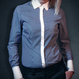 woman shirt, individual style, two ply fabric