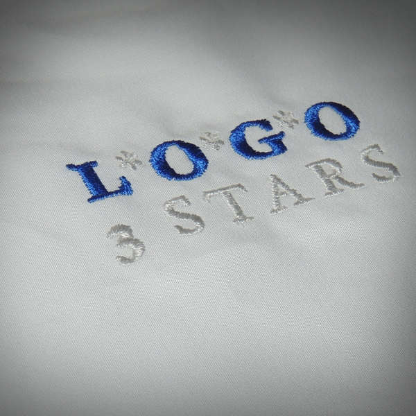 embroidered logo of you company