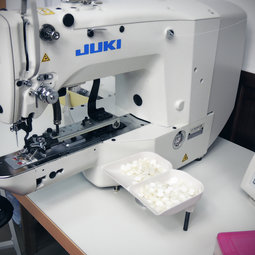 modern technologies make the quality of our shirts high, the JUKI electronic sewing machine